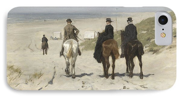 Morning Ride Along The Beach IPhone Case