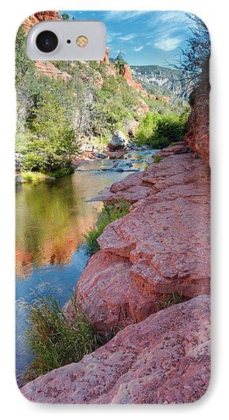 Morning Sun On Oak Creek - Slide Rock State Park Sedona Arizona IPhone Case