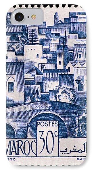Morocco Vintage Postage Stamp IPhone Case