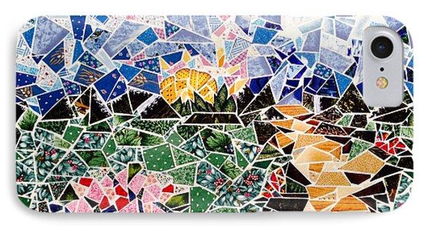 Mosaic Garden Path IPhone Case