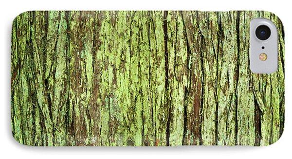 Moss On Tree Bark IPhone Case