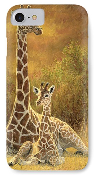 Africa iPhone 8 Case - Mother And Son by Lucie Bilodeau