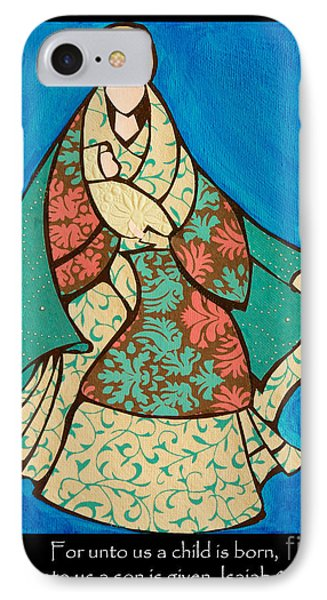 Mother Mary And Baby Jesus IPhone Case