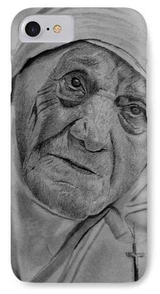 Mother Theresa-close Up IPhone Case