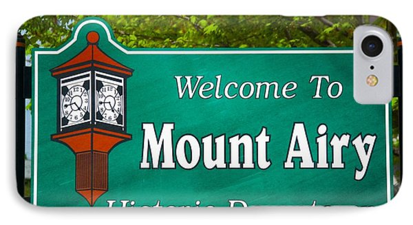 Mount Airy Sign Nc IPhone Case