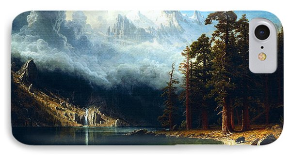 IPhone Case featuring the painting Mount Corcoran by Albert Bierstadt