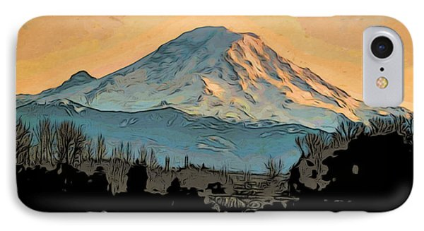 Mount Rainier IPhone Case