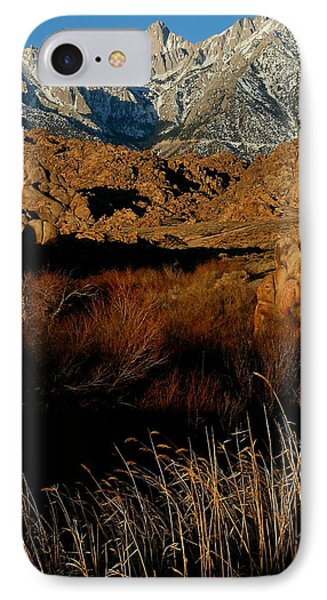 Mount Whitney From The Alabama Hills In California IPhone Case