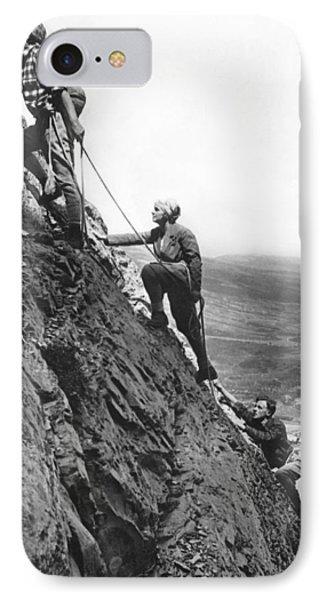 Mountain Climbing In Glacier IPhone Case
