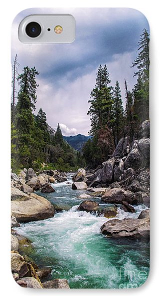 Mountain Emerald River Photography Print IPhone Case