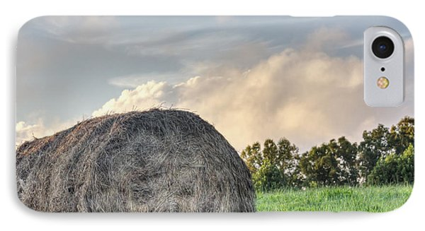 Mountain Pasture Hay Bale IPhone Case