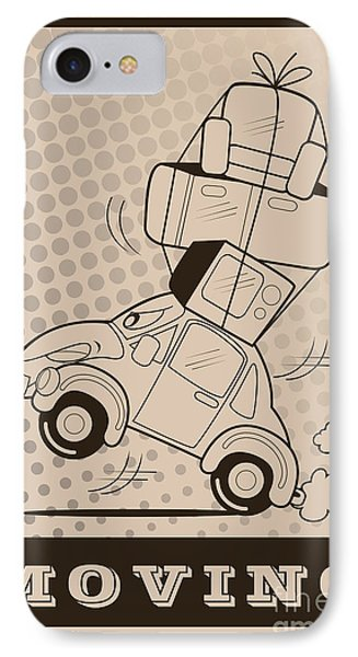 Truck iPhone 8 Case - Moving Car by Fun Way Illustration