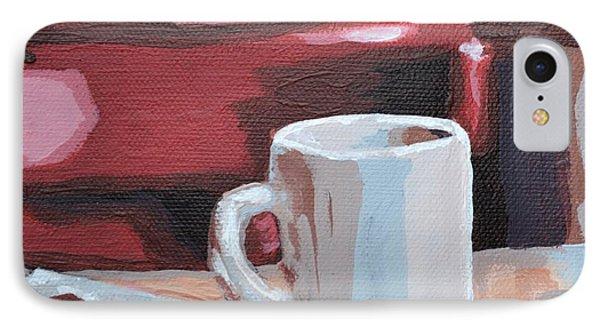Mug And Newspaper IPhone Case