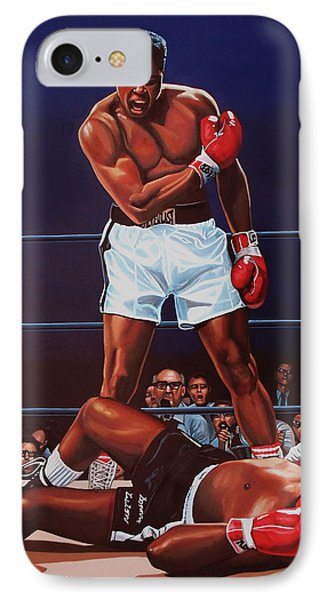 Portraits iPhone 8 Case - Muhammad Ali Versus Sonny Liston by Paul Meijering