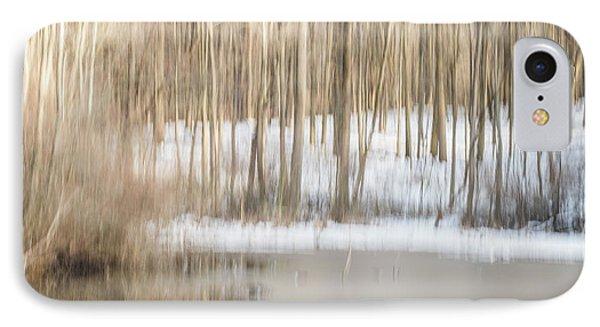 Multiple-exposure Of Trees In Winter IPhone Case
