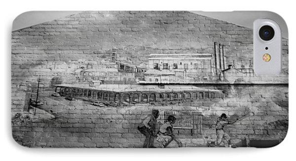 Mural-trona Museum Wall IPhone Case