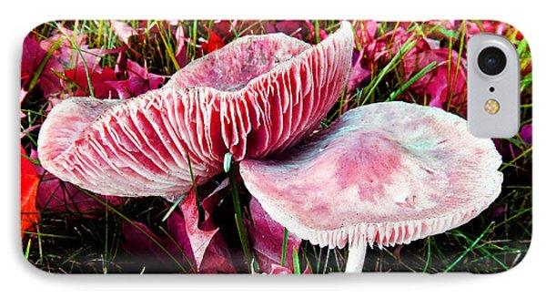 Mushrooms And Autumn Leaves IPhone Case