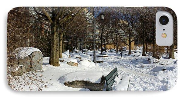 Music Garden Winter IPhone Case