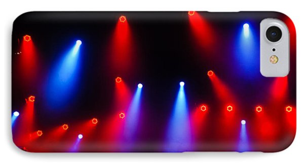 Music In Red And Blue - The Wonderful Sound Of Nightlife IPhone Case