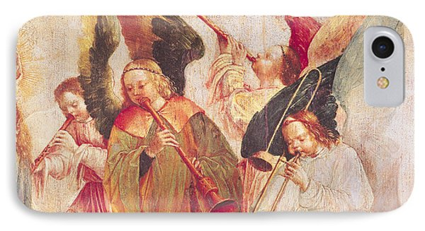 Trombone iPhone 8 Case - Musical Angels, Detail From The Assumption Of The Virgin by Taborda Vlame Frey Carlos