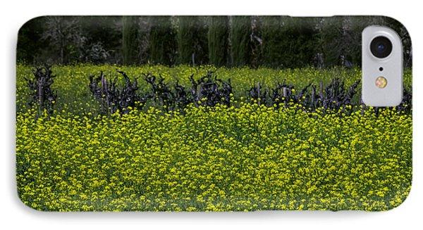 Mustard iPhone 8 Case - Mustard Grass In An Old Vineyard by Garry Gay
