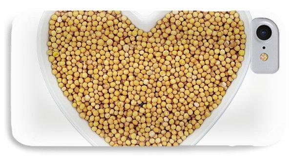Mustard iPhone 8 Case - Mustard Seeds by Geoff Kidd