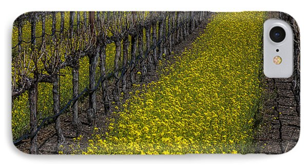 Mustard iPhone 8 Case - Mustrad Grass In The Vineyards by Garry Gay