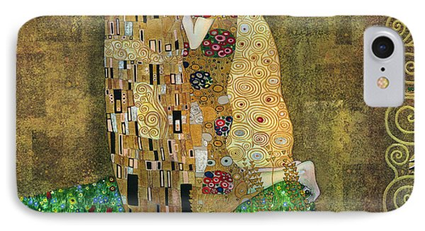My Acrylic Painting As An Interpretation Of The Famous Artwork Of Gustav Klimt The Kiss - Yakubovich IPhone Case