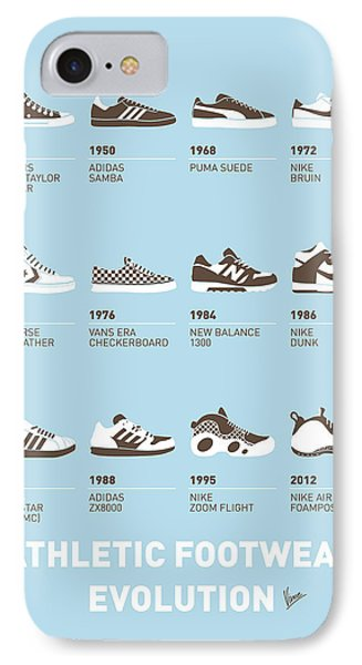 My Evolution Sneaker Minimal Poster IPhone Case