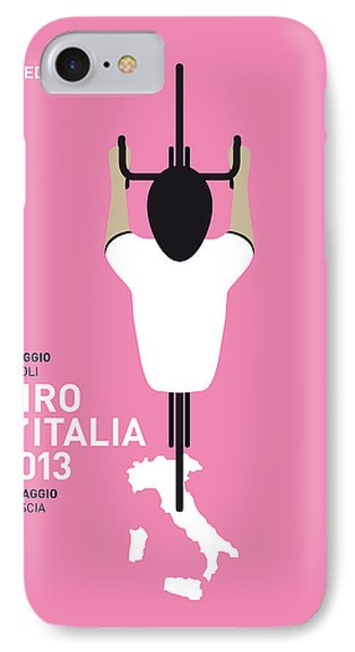 Bicycle iPhone 8 Case - My Giro D'italia Minimal Poster by Chungkong Art