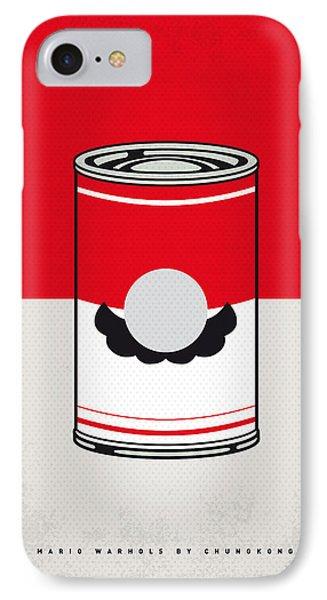 My Mario Warhols Minimal Can Poster-mario IPhone Case