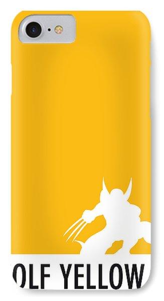 My Superhero 05 Wolf Yellow Minimal Poster IPhone Case