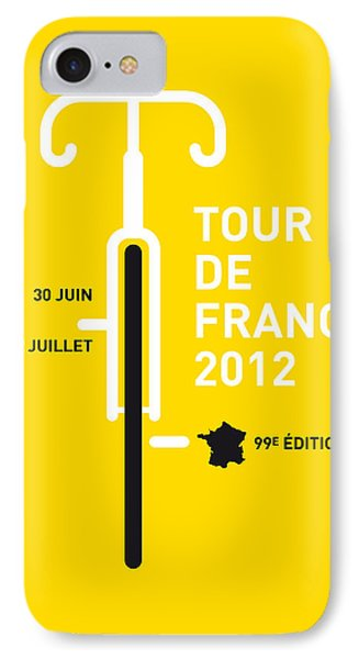 Bicycle iPhone 8 Case - My Tour De France 2012 Minimal Poster by Chungkong Art