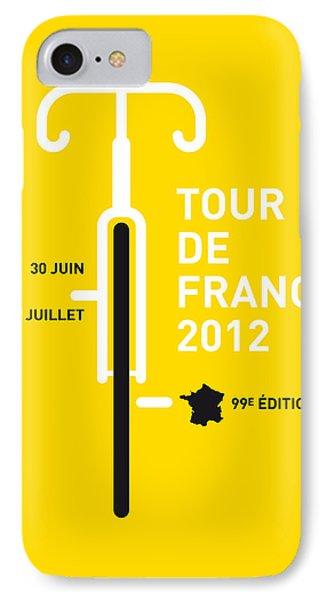 Transportation iPhone 8 Case - My Tour De France 2012 Minimal Poster by Chungkong Art