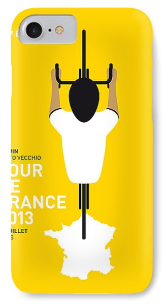 Bicycle iPhone 8 Case - My Tour De France Minimal Poster by Chungkong Art