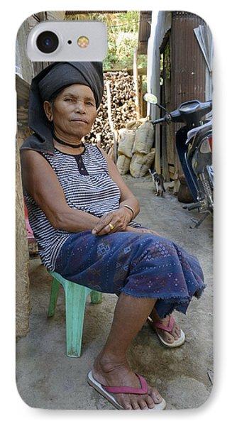 Myanmar Portrait IPhone Case