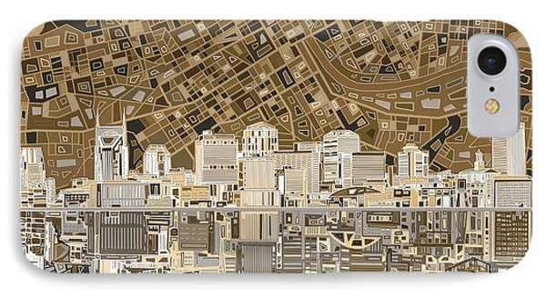 Nashville Skyline Abstract 2 IPhone Case