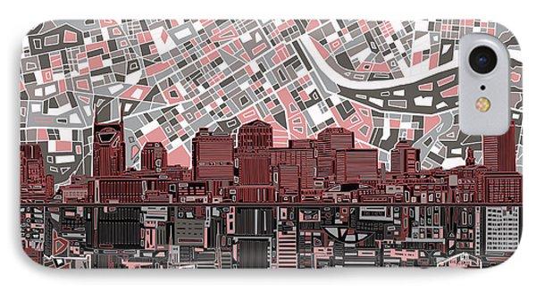 Nashville Skyline Abstract 3 IPhone Case