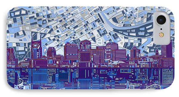 Nashville Skyline Abstract 8 IPhone Case