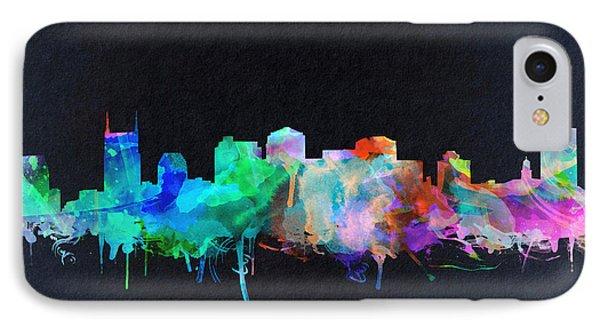 Nashville Skyline Watercolor 10 IPhone Case
