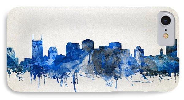 Nashville Skyline Watercolor 11 IPhone Case