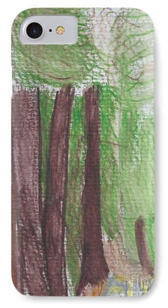 IPhone Case featuring the painting National Forest by Epic Luis Art