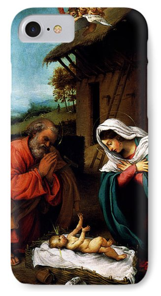 IPhone Case featuring the digital art Nativity by Lorenzo Lotto