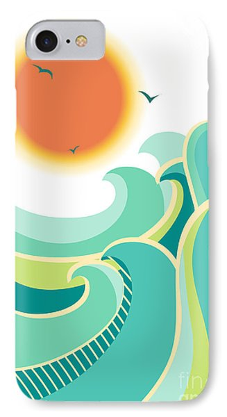 Beautiful Nature iPhone 8 Case - Nature Seascape Poster Background With by Tancha