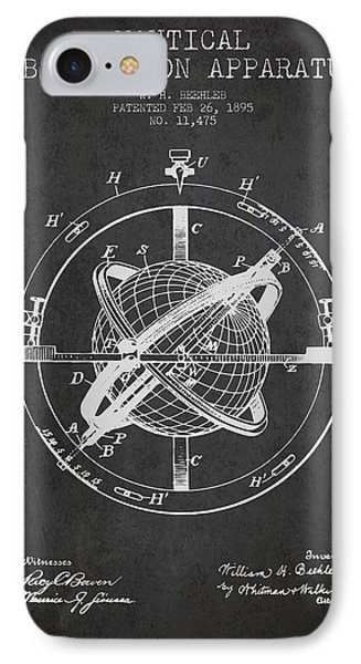 Nautical Observation Apparatus Patent From 1895 - Dark IPhone Case