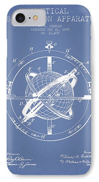 Nautical Observation Apparatus Patent From 1895 - Light Blue IPhone Case