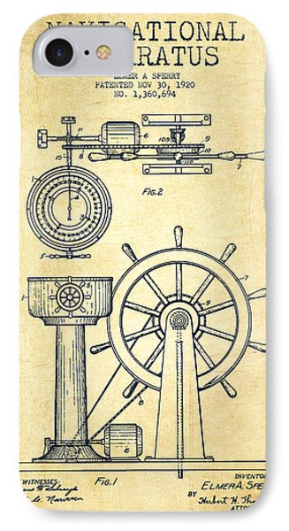 Navigational Apparatus Patent Drawing From 1920 - Vintage IPhone Case
