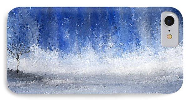 Navy Blue Art IPhone Case