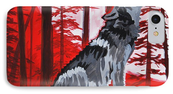Wolf With Red Sky IPhone Case