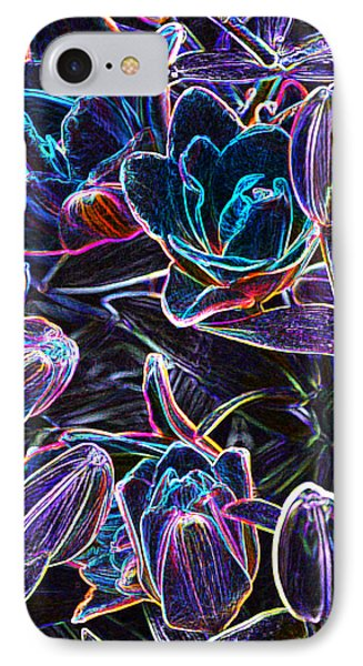 Neon Lilies IPhone Case